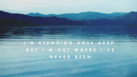 standing knee deep